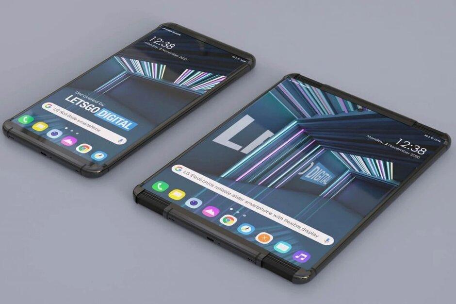 Render del teléfono enrollable de LG creado a partir de la solicitud de patente de LG por LetsgoDigital - El video que muestra la versión conceptual del Samsung Galaxy Scroll incluye un popular accesorio Galaxy Note
