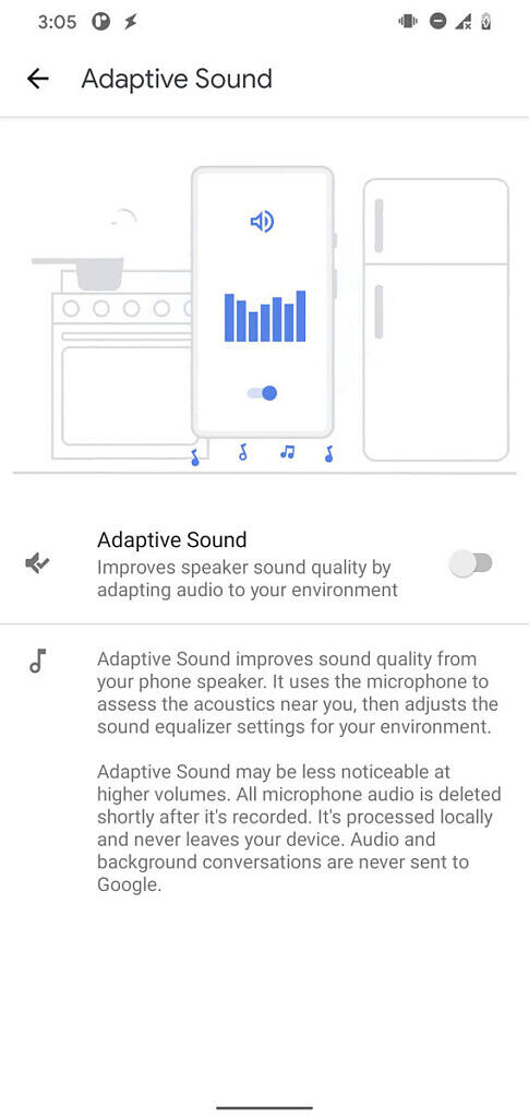 Google está trabajando en Adaptive Sound para teléfonos Pixel