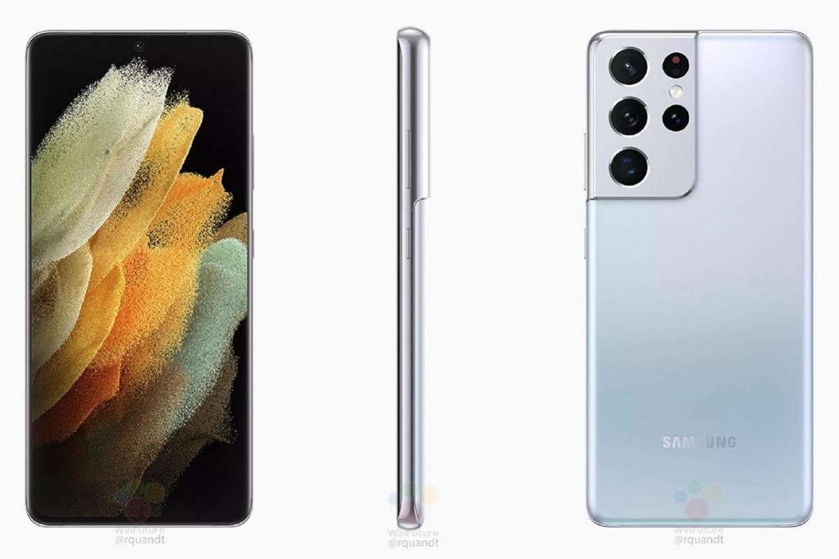Renders del Galaxy S21 Ultra: Samsung incluye un último adelanto del Galaxy S21 antes del año nuevo