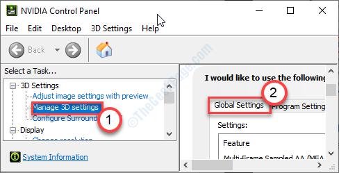 Ficha Configuración global