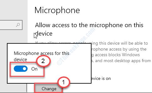 Micrófono en cambio mínimo