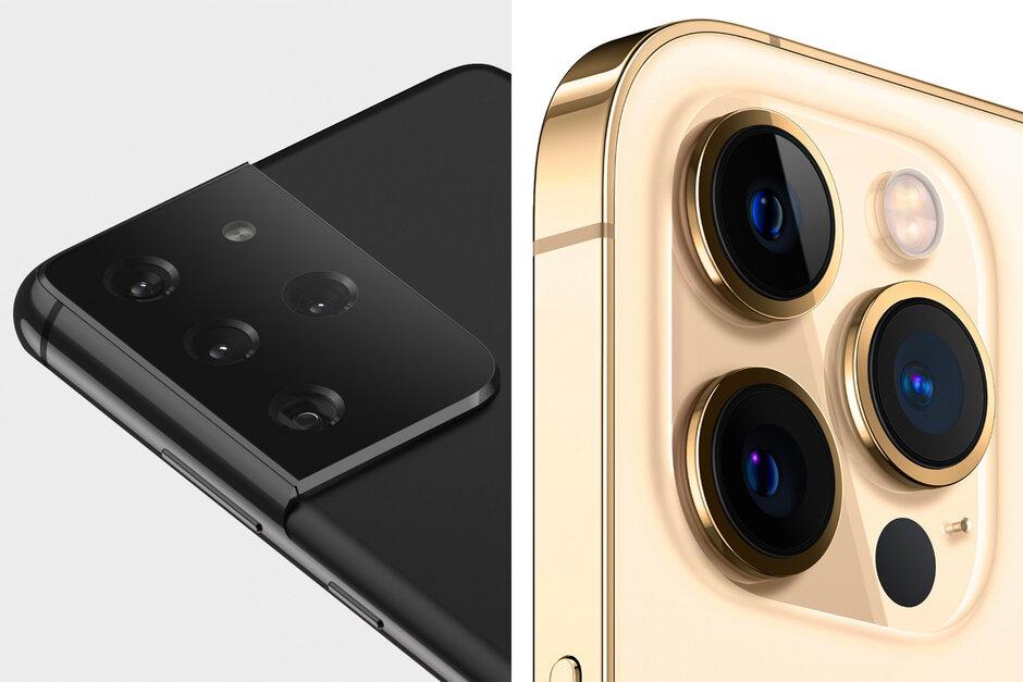 Samsung Galaxy S21 Ultra frente al iPhone 12 Pro Max