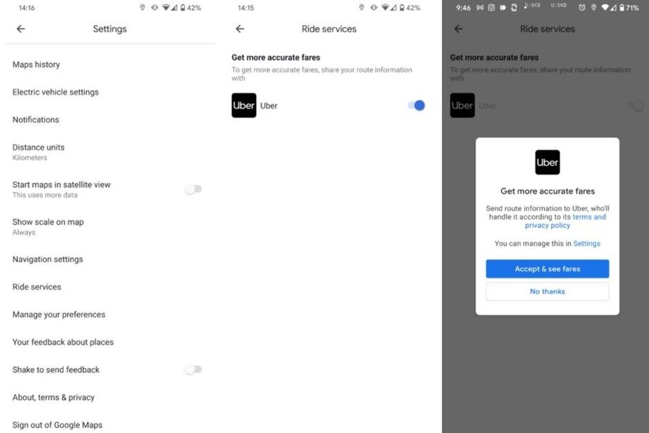 La actualización a la versión beta de Google Maps ofrece estimaciones de tarifas más precisas para los viajes compartidos. La actualización a la versión beta de Google Maps tiene nuevas funciones que usará