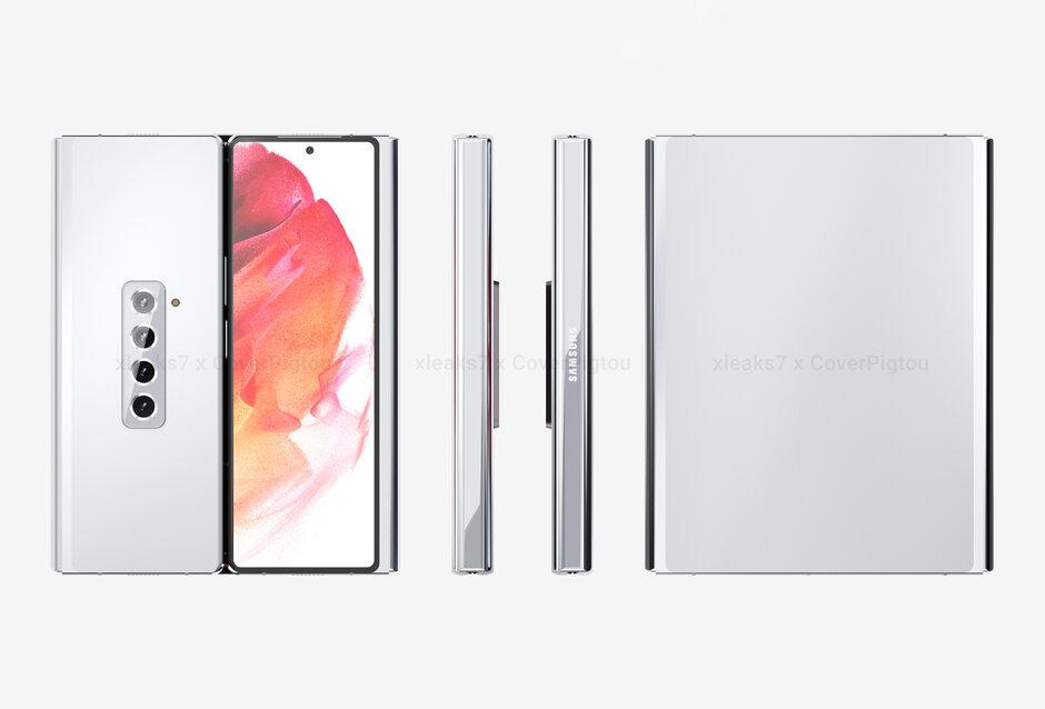 Render del Samsung Galaxy Z Fold 3 Tri-Fold
