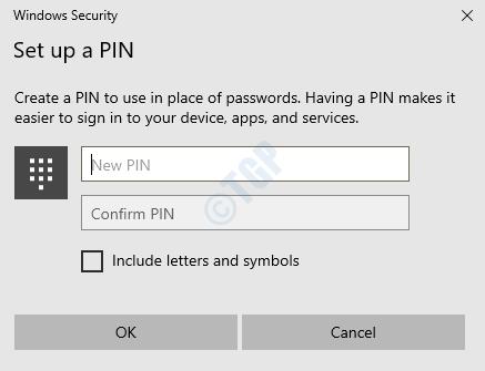 Pin de configuración de 5 ms