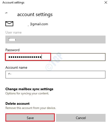 45 Actualizar la contraseña de la aplicación de correo