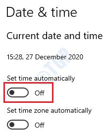 22 Desactivar la hora automática