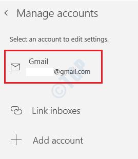37 Aplicación de correo Seleccionar cuenta
