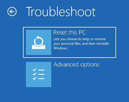 4 Solucionar problemas Restablecer esta PC Opciones avanzadas Reparación de inicio