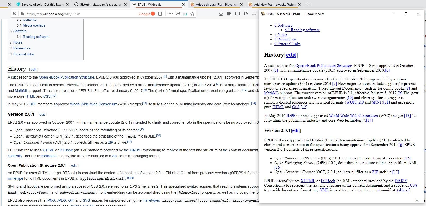 Guardar página como libro electrónico - Wikipedia