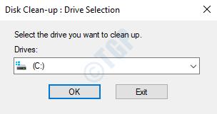 Mensaje de limpieza del disco Seleccione la unidad que desea limpiar Ok
