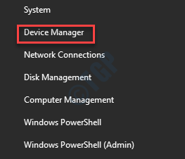 Inicie el Administrador de dispositivos con clic derecho