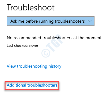Solucionar problemas de Windows Solucionadores de problemas adicionales