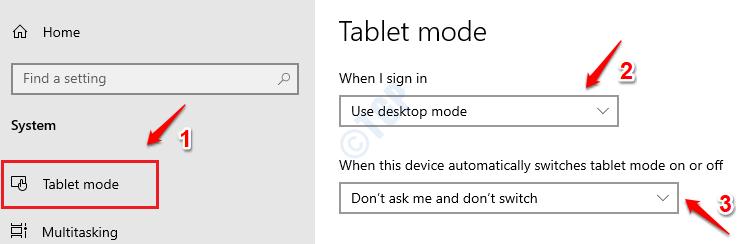 8 configuraciones del modo tableta