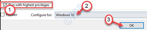 Ejecutar con los privilegios más altos Windows 10 Ok Min