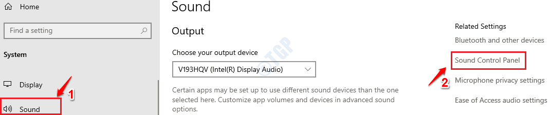 2 Panel de control de sonido