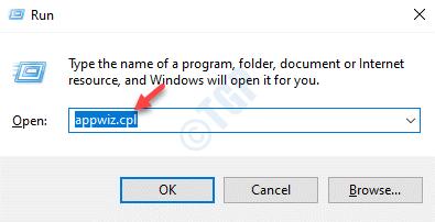 Ejecute el comando Appwiz.cpl Enter