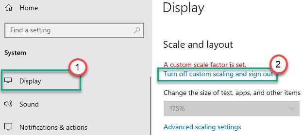 Display Turn Off Custom Scaling Min