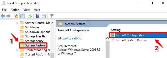2 Desactivar la configuración