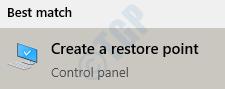 10 Crear punto de restauración