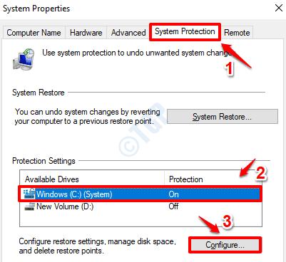 8 Configurar protección del sistema