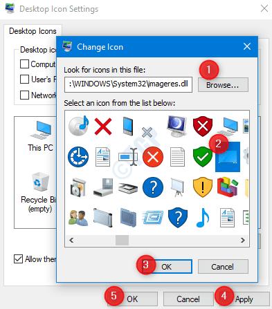 Este cambio de icono de PC