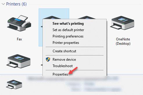 Dispositivos e impresoras Impresoras Haga clic con el botón derecho en Propiedades de la impresora