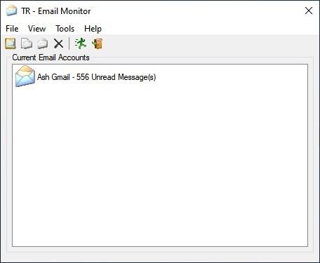 Interfaz TaskRunner Email Monitor