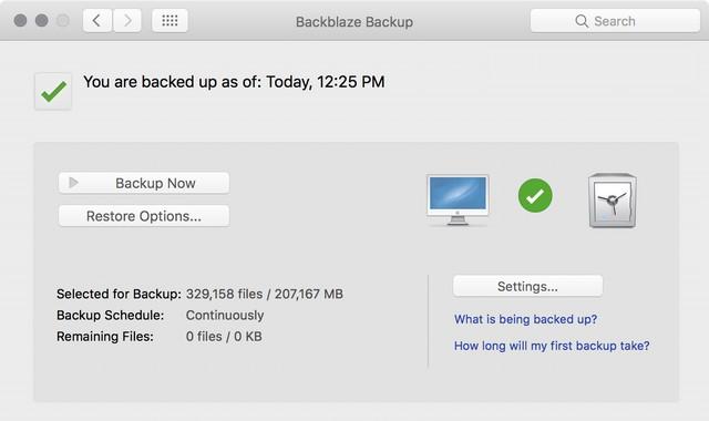 Backblaze: el mejor software de copia de seguridad para Mac