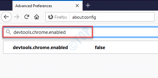 Barra de búsqueda de preferencias avanzadas Devtools.chrome.enabled