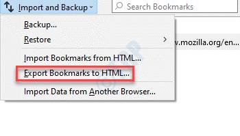 Importar y hacer una copia de seguridad de los marcadores de exportación a HTML