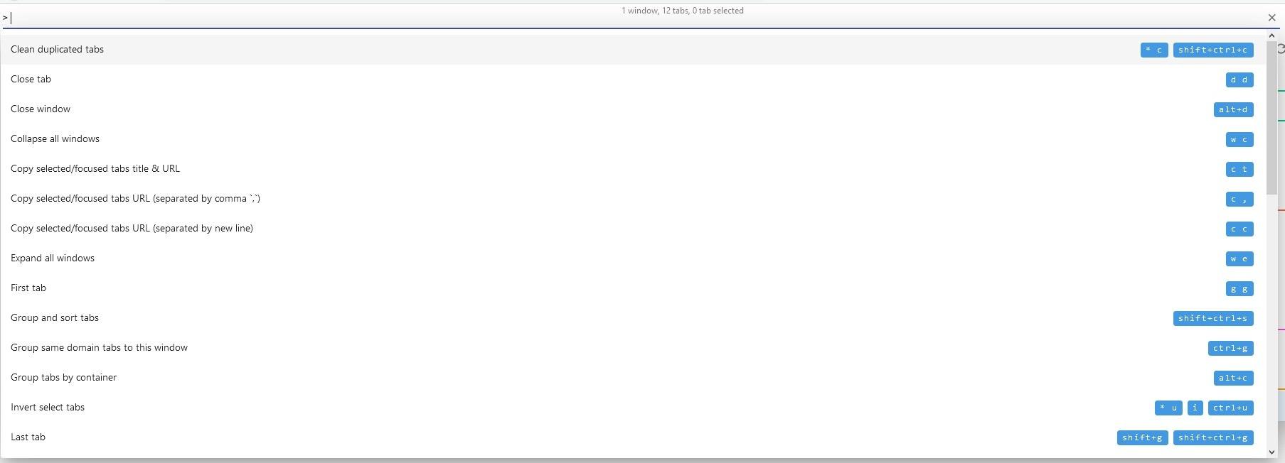 Extensión Tab Manager V2 para Firefox y Chrome