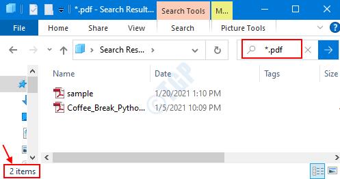 Tipo de archivo específico
