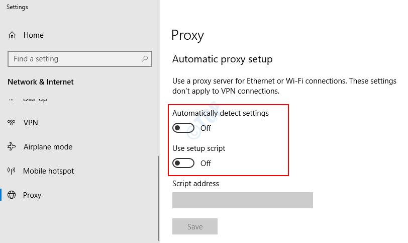 Configuración de detección automática de red