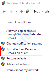 Activar o desactivar el firewall