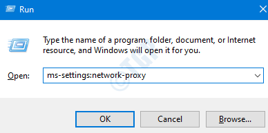 Configuración de proxy de red