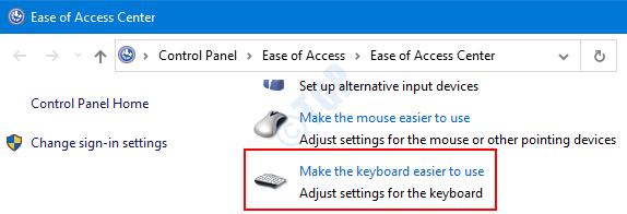 Haga que el teclado sea más fácil de usar