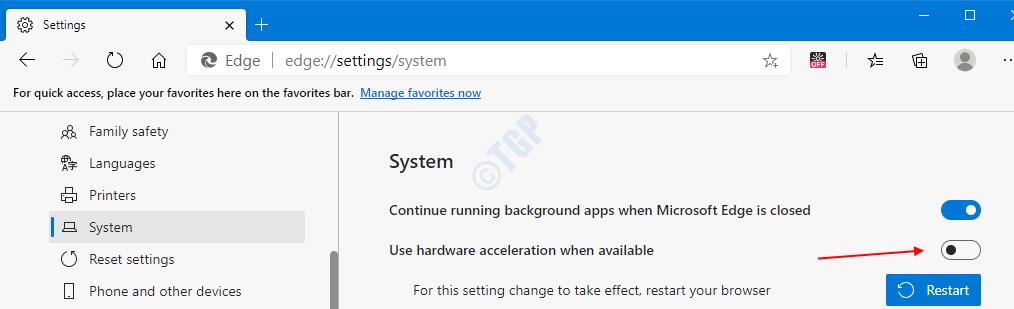 Desactivar Aceleración de hardware