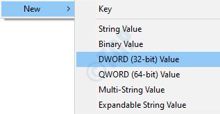 Creación de Dword
