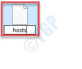 Cambio de nombre de archivo de hosts