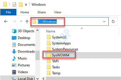 Explorador de archivos C Drive Windows Syswow64