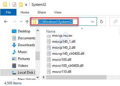 Explorador de archivos Navegar a la carpeta System32