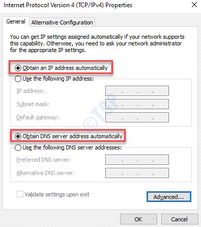 Las propiedades del Protocolo de Internet 4 (tcp Ipv4) obtienen una dirección Ip automáticamente Obtienen una dirección de servidor Dns automáticamente