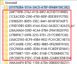 Nombres clave en la lista Mín.