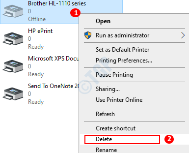 Las impresoras eliminan Printer Way 2