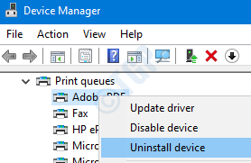 Quitar la impresora de la administración de dispositivos
