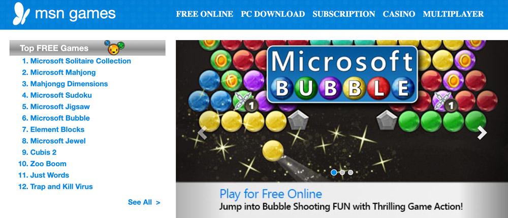 Juegos gratuitos de MSN