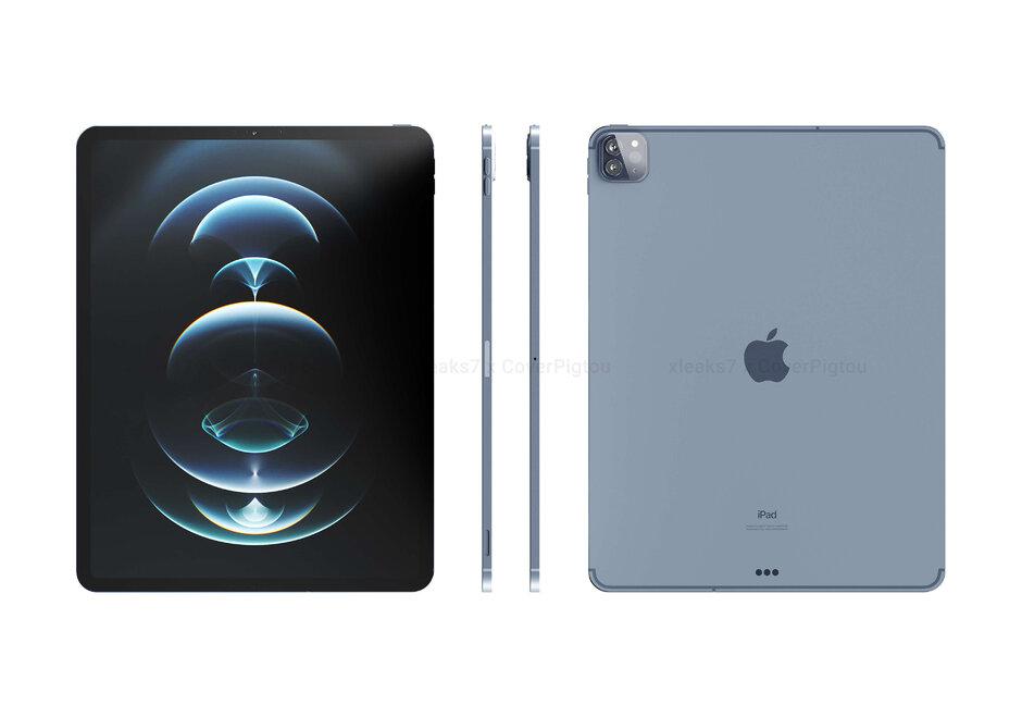 Renders de iPad Pro (2021) basados en CAD: el próximo iPhone que ofrecerá Touch ID en pantalla; puede llamarse iPhone 12S