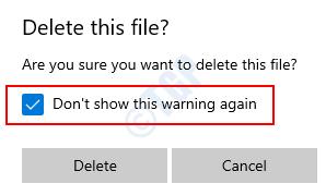 Diálogo Eliminar este archivo