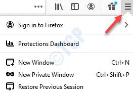 Ayuda del menú abierto del navegador Firefox